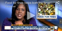 Food For Fines Helps the Hungry and the Forgetful